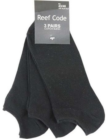 Κοντή κάλτσα σοσόνι Reef code 3τμχ μαύρη 3b2eeeedfda