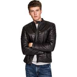 Pepe Jeans Biker Leather Jacket Keith PM401905-999 9bd22f369c4