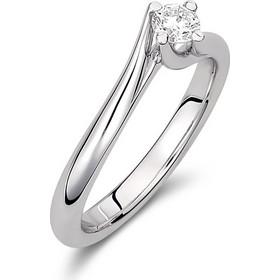Μονόπετρο δαχτυλίδι από λευκό χρυσό 18 καρατίων με διαμάντι 0.24ct 48afd63e8e5
