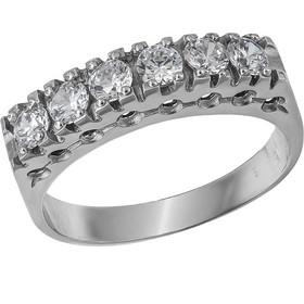 Σειρέ δαχτυλίδι Κ14 λευκόχρυσο με ζιργκόν πέτρες 030729 030729 Χρυσός 14  Καράτια 8287a6299c7