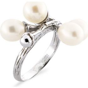 Δαχτυλίδι με μαργαριτάρι και διαμάντι σε ασήμι 925 - M117757R 08d7ca32d27