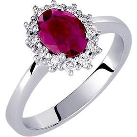 Λευκόχρυσο δαχτυλίδι Κ18 με brilliant και ορυκτό ρουμπίνι DBR121A de4a3726790