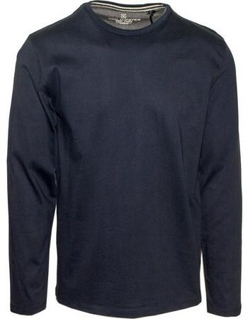 71436-03 Ανδρική μακρυμάνικη μπλούζα μακό - μπλέ navy ff114e1677f