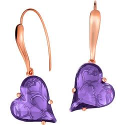 Σκουλαρίκια καρδιές σε ασήμι 925 με λιλά πέτρες SWAROVSKI SK-34537LILAR1 87c0af86edf