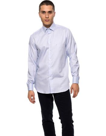 The Bostonians ανδρικό πουκάμισο μονόχρωμο - A8P1173 - Ανοιχτό Γαλάζιο 21e9d723a03