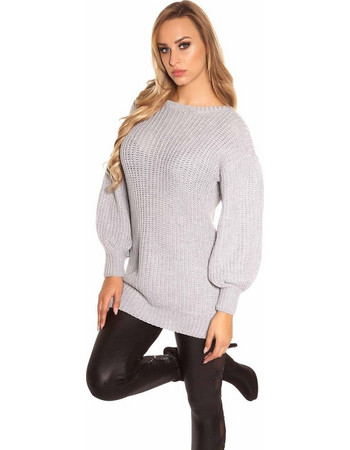 6ea28ce51efa Knitted blouse with long sleeves