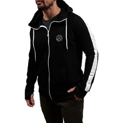 259d6978b91f Vinyl Art - 28562 - Hoodie Full Zip - Black White- Φούτερ Ζακέτα