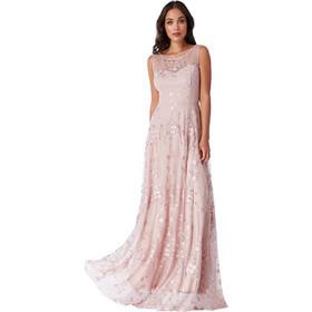 ef506ec3546 romantic maxi lace tulle φόρεμα Misty Rose
