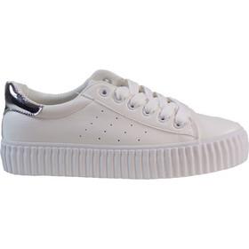 Bagiota Shoes Γυναικεία Παπούτσια Sneakers 3909-2 Άσπρο-Ασημί 407970 4a40cb1fdb1
