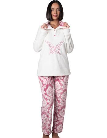Πυτζάμα Πολυτελείας Bonne Nuit - Ζεστό Fleece - Ανάγλυφο Σχέδιο - Hot Pick  18 19 78e483d0385