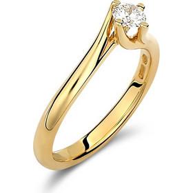 Μονόπετρο δαχτυλίδι φλόγα απο χρυσό 18 καρατίων με διαμάντι 0.27ct. PL098G 47add086f4a