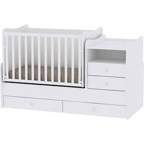 abb129a9aef Κρεβάτι Combo Μετατρεπόμενο Πολυμορφικό White Lorelli 10150560024A (ΔΩΡΟ  μαξιλάρι θηλασμού)