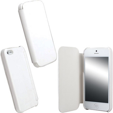Krusell Leather Flipcover White (iPhone 5/5S)