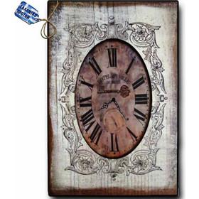 Vintage Ρολόι Τοίχου Cafe de Ville - Ξύλινο Χειροποίητο 32x48 cm d17f2b0cdd9