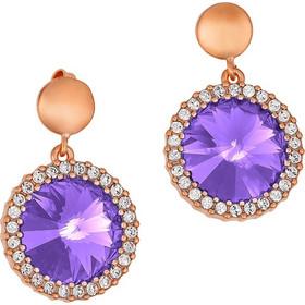 fdbd972309 Ασημένια σκουλαρίκια ροζέτες 925 με λιλά πέτρες SWAROVSKI SK-34701LILAR1