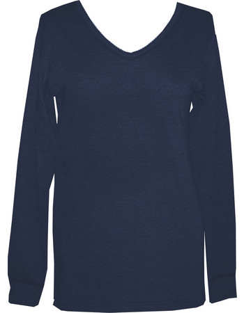 90de4cddd5dd Dedes Thermal γυναικεία μπλε-navy V μακριά μακρυμάνικη ισοθερμική μπλούζα  5627