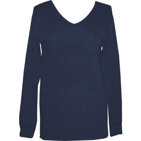 ce9b741b6d40 Dedes Thermal γυναικεία μπλε-navy V μακριά μακρυμάνικη ισοθερμική μπλούζα  5627