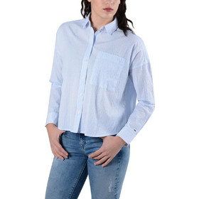 f13a778eaf7f Tommy Jeans Oversized Seersu Γυναικείο Πουκάμισο DW0DW04179-901