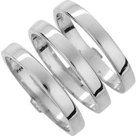 Χειροποίητο ασημένιο δαχτυλίδι 925 με επιπλατίνωμα AD-5991L1 393a6ba7003