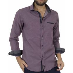 4e1392c6ca9c Ανδρικό Μακρυμάνικο Πουκάμισο Slim Fit CND Shirts 3600-6 Μωβ