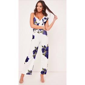 1f9114957605 Ολόσωμη φόρμα με μπλε ηλεκτρίκ λουλούδια