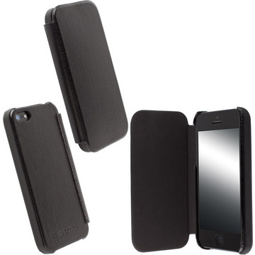 Krusell Leather Flipcover Black (iPhone 5/5S)