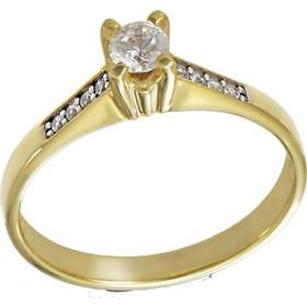 Δαχτυλίδι μονόπετρο χρυσό 14 καράτια με λευκό ζιργκόν swarovski(R) 350cda6d6cf