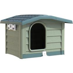 BAMA ITALY Σπίτι Σκύλου 89x75x62cm Medium με Ρυθμιζόμενη Οροφή και Πάτωμα  10kg Πράσινο BUNGALOW 487f0376a80