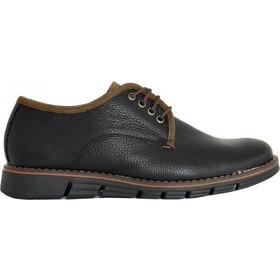 Ανδρικά δερμάτινα παπούτσια Nice Step μαύρα δετά 772 5b5da3df05a