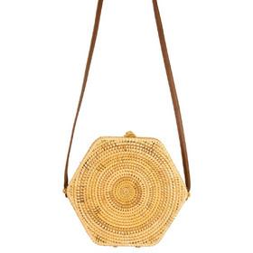 6c33a0baeb Γυναικεία τσάντα χιαστί ψάθινη καφέ Bamboo 19938