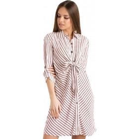 5a79d23e0674 F0699 Φόρεμα Ριγέ με Δέσιμο στο Μπούστο - ΑΣΠΡΟ 17678