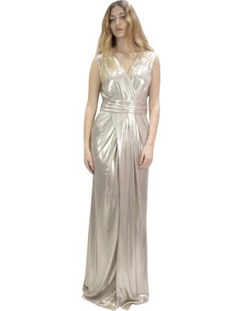 Queen fashion 190018 Φόρεμα Χρυσό Queen feb43484ae6
