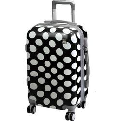 9be9f6de31 A2S Βαλίτσα Καμπίνας Polka dot black (55x35x22cm)