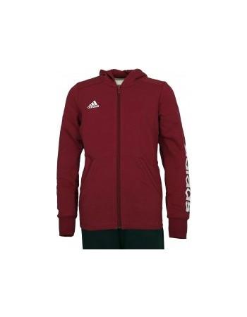 1a3a67b1491f adidas Girls Essentials 3 Stripe Hooded Jacket blue pink AB4870
