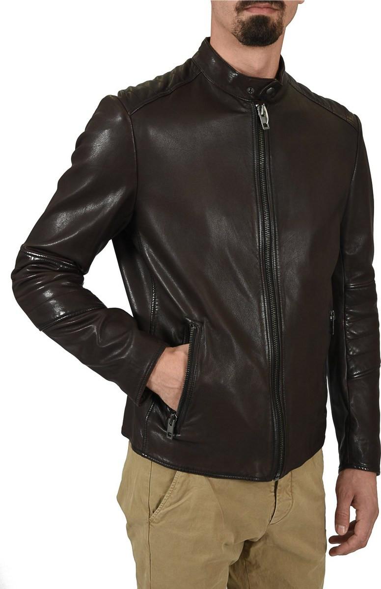 leather jacket men - Ανδρικά Μπουφάν Hugo Boss  eee1cd207ec