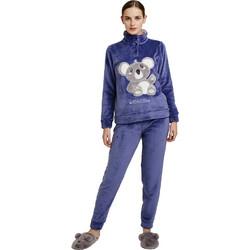 4d32211fb82 Noidinotte Γυναικεία Πιτζάμα Fleece Fa 6586 Μπλε Ιντιγκο