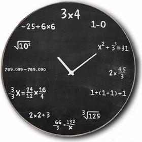 Vintage Ρολόι τοίχου Maths - Ξύλινο Χειροποίητο 48cm ef33d7f439f