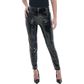 0ac486577a5c Γυναικείο εφαρμοστό παντελόνι βινύλ μαύρο