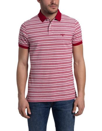 7355b8f6db1c Ανδρική πόλο μπλούζα Bedford Stripe Barbour - MML0937 - Κόκκινο