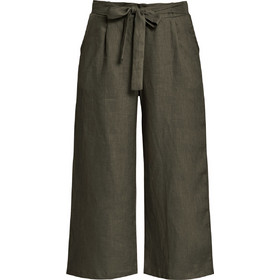 69ce5a31c8c1 Λινό cropped παντελόνι με δέσιμο SD1260.1001+2