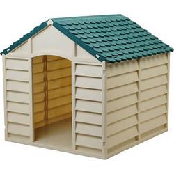 41897dc6353b STARPLAST Σπίτι Σκύλου 78x84.5x80.5cm LARGE 10kg Μπεζ-Πράσινο