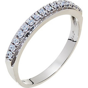 Δαχτυλίδι σειρέ από λευκό χρυσό 14 καρατίων με ζιρκόν. HR15194 05c9123be5c