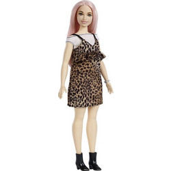 Mattel Barbie Fashionistas Leopard Φόρεμα   Ροζ Μαλλιά 90144854906