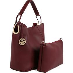 Γυναικεία Τσάντα Χειρός με Τσαντάκι Χρώματος Μπορντό Beverly Hills Polo  Club 397 000ab7fb291