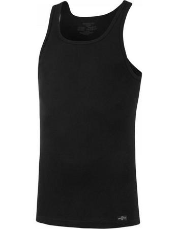 Impetus Pure Cotton μαύρη εφαρμοστή αμάνικη αντρική φανέλα χωρίς ραφές  1334001 0df1467b99a