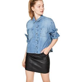 41c4a2cb5030 Pepe jeans γυναικείο τζην πουκάμισο Ally - PL303239 - Μπλε Ανοιχτό