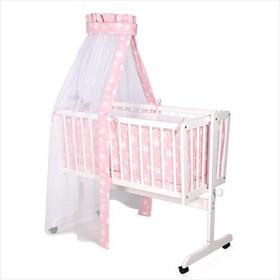 d58314fdf7e Σετ Προίκα Μωρού για Λίκνο 5τμχ Eva Lorelli Bertoni Pink Stars