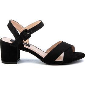 37e68688439 Πέδιλα μαύρα σουέτ χιαστί με χαμηλό τακούνι 342182bl. Tsoukalas Shoes