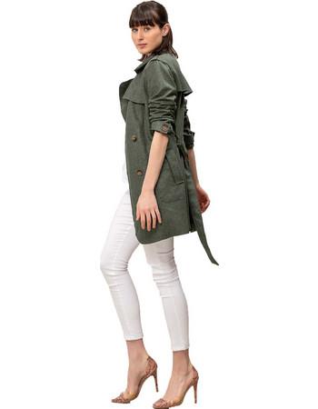 Καπαρντίνα suede - Πράσινο b60f25d21ff