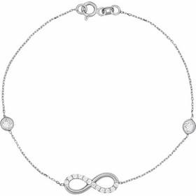 Βραχιόλι Άπειρο Λευκόχρυσο Με Ζιργκόν - 002641 7ba8ab4dd82